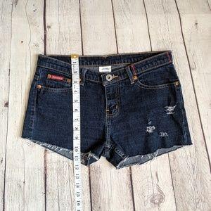 Guess Shorts - Guess Dark Blue Cutoff Jean Shorts